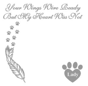 Personalised Dog Sympathy Decal Vinyl Sticker Box Frame Gifts DIY Photo Frames