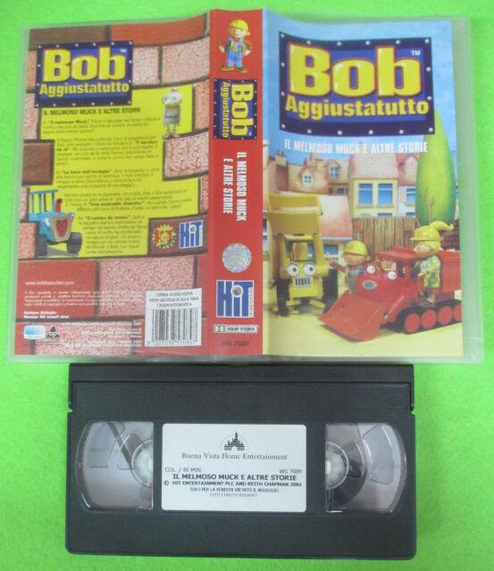 VHS film BOB AGGIUSTATUTTO il melmoso muck e altre storie KIT WS7089 (F5) no dvd