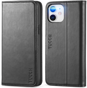 """12 Pro Leather Wallet Case for 6.1"""" iPhone 12 / 12Pro Luxury Folio Flip Cover"""