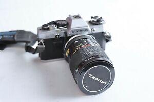 Olympus-OM10-SLR-amp-TAMRON-Zoom-Macro-80mm-2-8-3-5-Flash