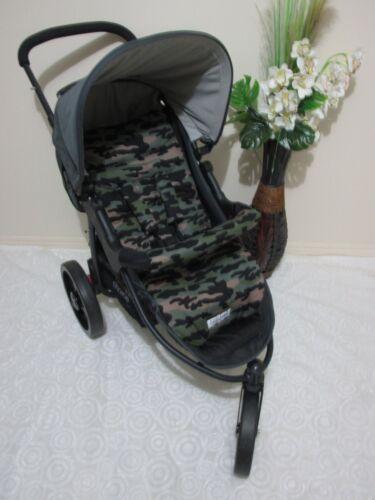 Handmade pram liner set-Green camouflage-100/% cotton,universal*Funky babyz
