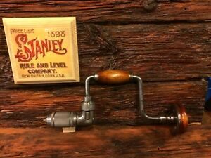 Vintage-Stanley-923-8-034-Hand-Brace-Excellent-Cosmetic-amp-Operating-Condition