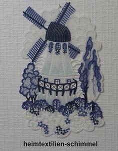 éNergique Plauener Pointe Fensterbild Moulin à Vent Fenêtre Décoration Moulin Fensterdeko Neuf-ion MÜhle Fensterdeko Neu Fr-fr Afficher Le Titre D'origine