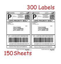 300 Half Sheet Shipping Labels for Laser/InkJet for eBay/PayPal/USPS/UPS/Fedex