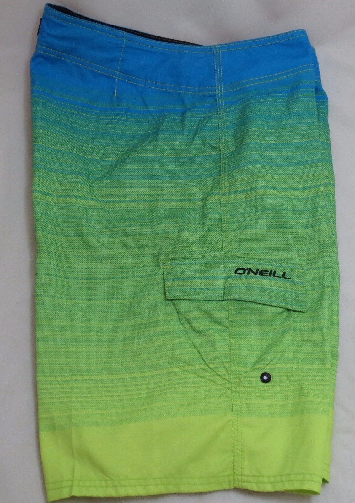Men's O'NEILL Size 33 Tabago bluee Green Boardshorts Shorts Polyester MSRP