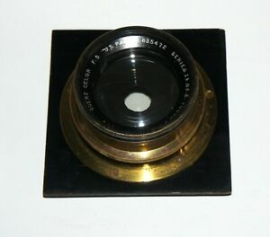 Vintage-brass-LF-lens-Goerz-Berlin-Celor-Serie-1B-3-21cm-F5-COVERS-5x7-034-or-more