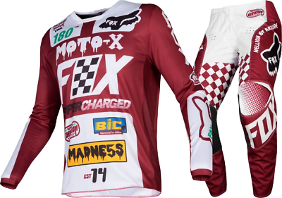 2019 Fox 180 Czar Motocross Kit Combo - Cardinal 34/l