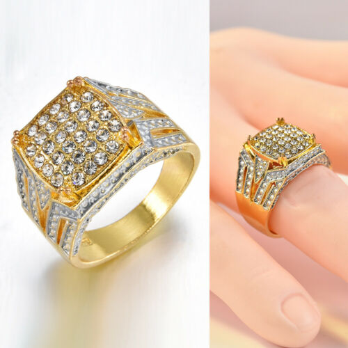Women Charm Gold Silver Plated Rings Luxury Simulated Zircon Ring Wedding Rings