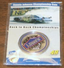 Lowes Championship Coin Jimmie Johnson #48 Team Racing 2006 - 2007 NEW