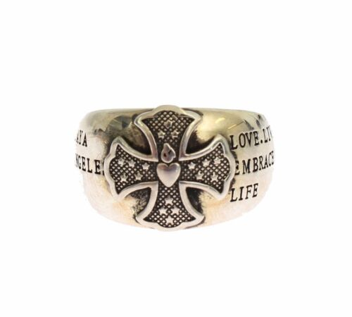 NEW NIALAYA Ring Authentic Mens 925 Silver Sterling Crest s. US10 EU61