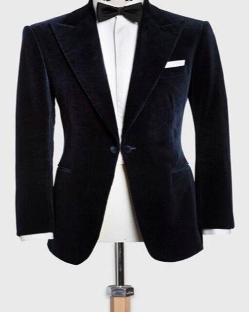 9e3fc141e Men Black Velvet Jacket Blazer Coat DESIGNER Grooms Wedding Casual Party  Wear