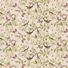 """Rose Divine Bird on Vine by Springs Creative 100% cotton 44"""" fabric by the yard"""
