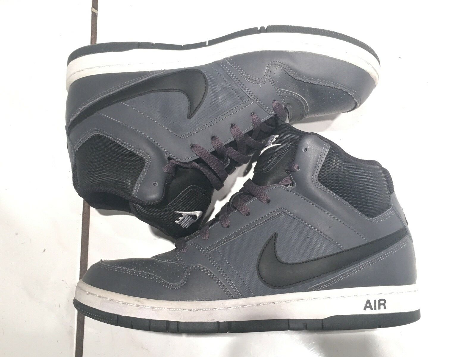 Nike Air Prestige III Mens Very High Top Grey/Gray, Black and White 9