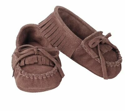 Genuine Leather Baby Moccasins Infant Toddler Unisex 12-24 months Luggage Color