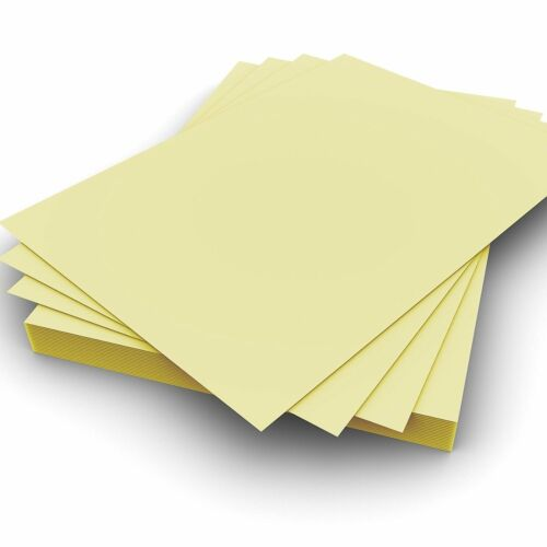 A5 160gsm Plain Pastel Yellow Card Pack of 100 Perfect for Crafting Card Making