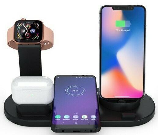 Airpods Charging Dock Station Desktop Charger For Apple Iphone 7 Plus Air Pods For Sale Online Ebay