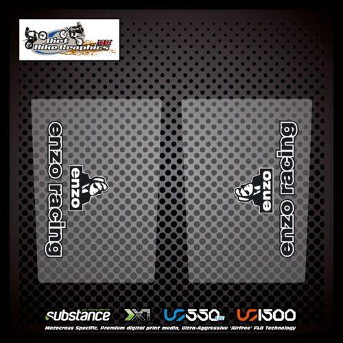 Enzo Upper Fork Black On Clear Decal Sticker MX 3