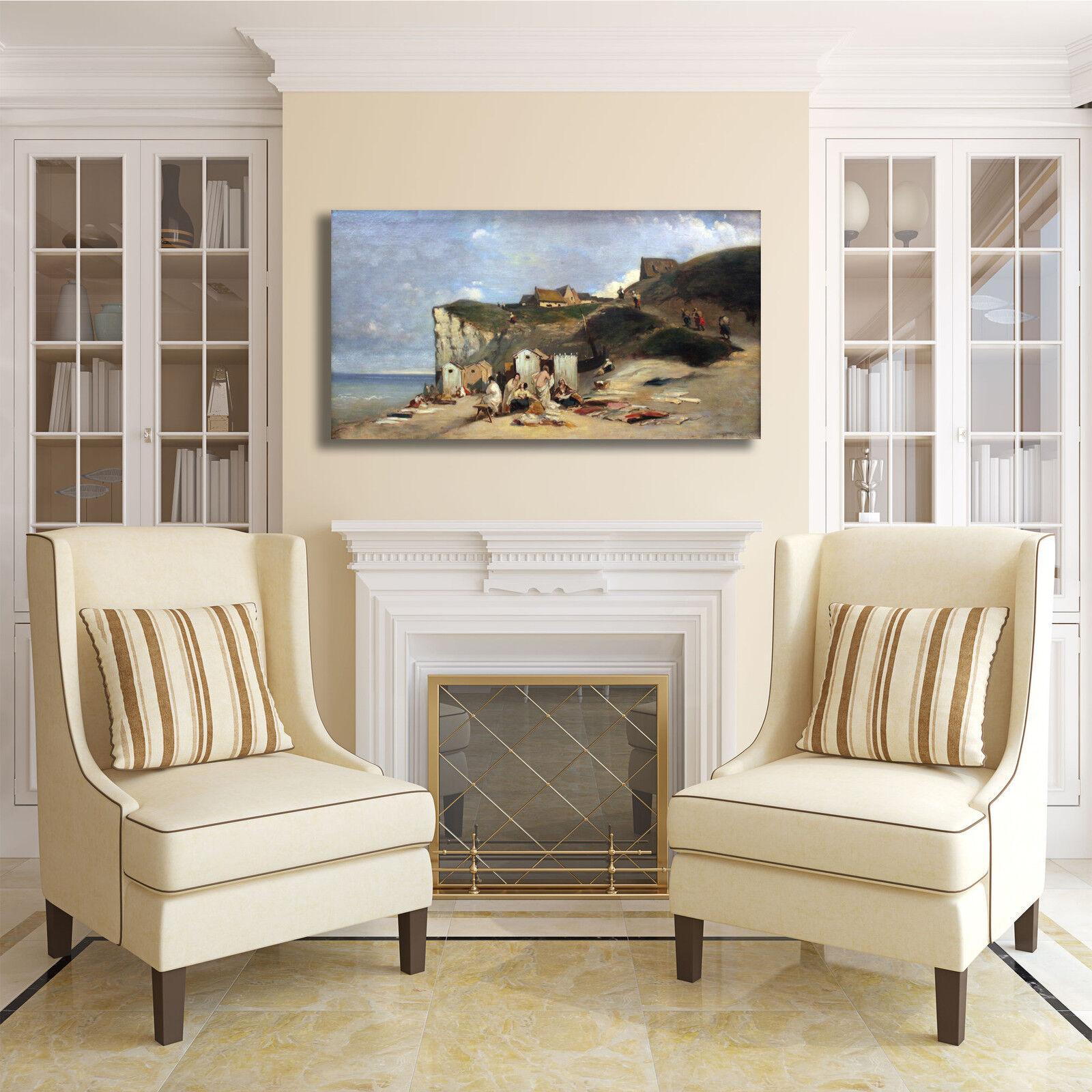 Spitzweg donne fanno bagno design quadro stampa casa tela dipinto telaio arrossoo casa stampa ec92db