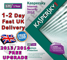 KASPERSKY INTERNET SECURITY 2012 - 5 PC USER 1 YEAR - NEW SEALED! 2013 2014 KIS
