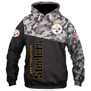 the latest a03e2 d4a52 Details about PITTSBURGH STEELERS Hoodie Hooded Pullover S-5XL Football  Team Fans NEW Designs