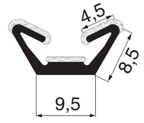 beflocktes Profil Meterware Fensterführungsprofil Flockprofil ... Samtschiene