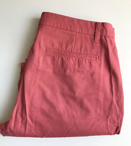 Bonobos Pants / Chinos, 36 x 30, Pink Salmon, Straight Fit, Cotton, Exc Cond