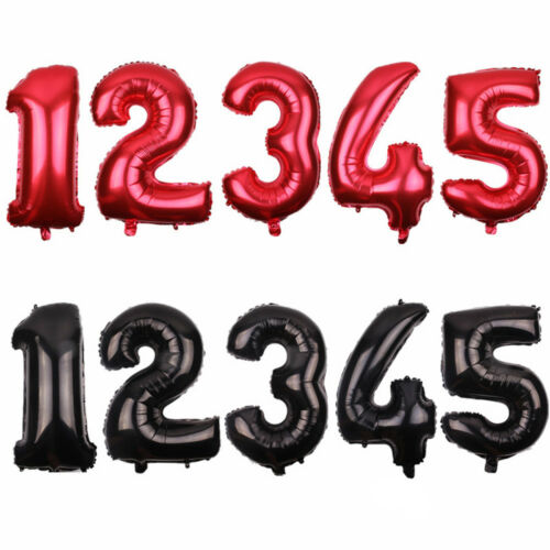 """32/"""" 1 ~ 9 Número Letra Papel de Aluminio Globos Feliz Cumpleaños Fiesta Boda Decoración"""