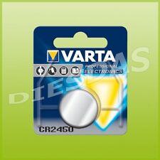 2 Stk. Varta CR2450 Lithium Mangan Knopf Batterie 3 Volt DL2450 LiMn 1er Blister