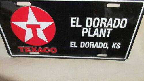 TEXACO El Dorado Plant License Plate Tag  El Dorado Kansas KS