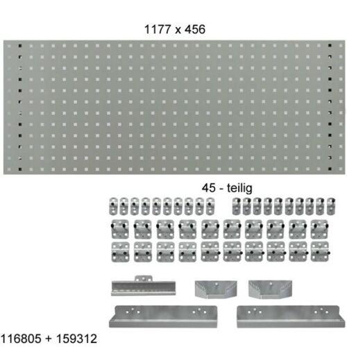 Lochwände Lochplatten Haken Sets für Werkzeugwand Werkzeug ADB Lochbleche