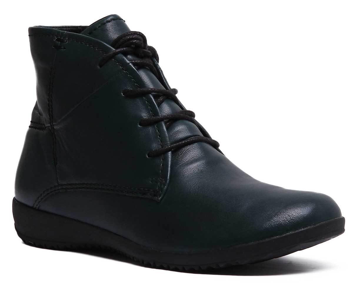 Josef Seibel Naly 09 damen Leather Casual Ankle Stiefel In Petrol Größe UK 3 - 8