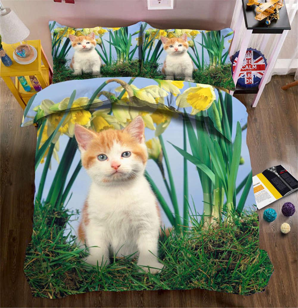 Milk Fragrance Cat 3D Printing Duvet Quilt Doona Covers Pillow Case Bedding Sets