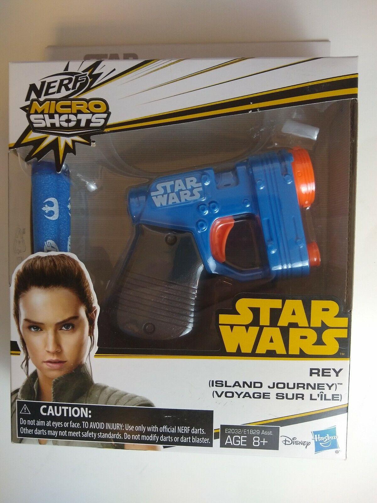 Blaster Hasbro E2032 Island Journey Nerf MicroShots Star Wars Rey
