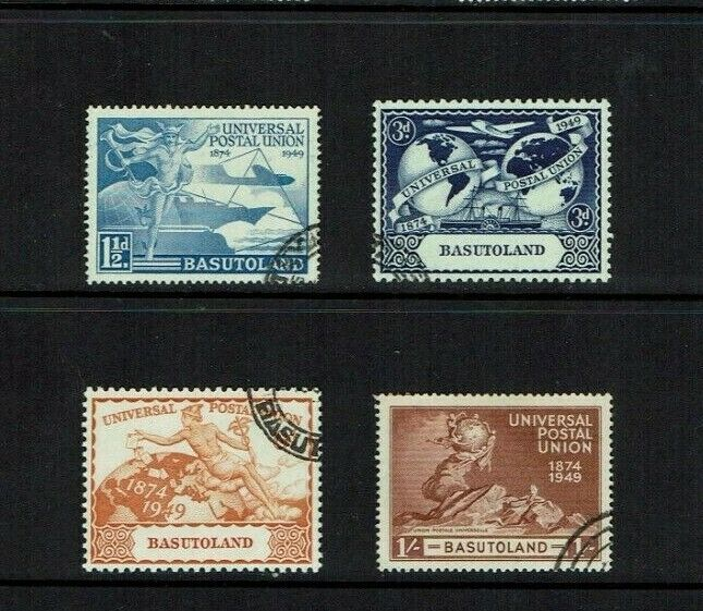 Basutoland: 1949, 75th Anniversary of the UPU, Fine used set.