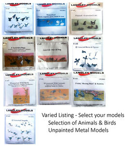 LANGLEY-MODELS-ANIMALS-WILD-LIFE-BIRDS-OO-Gauge-various-options-unpainted