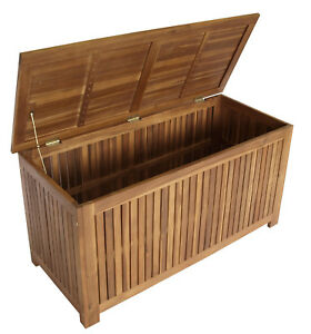 auflagenbox kissenbox kissentruhe gartentruhe gartenbox st vincent 117cm holz ebay. Black Bedroom Furniture Sets. Home Design Ideas