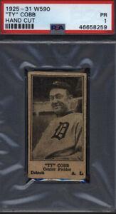 TY COBB 1925-31 W590- Ty Cobb Detroit Tigers HOF- 🔥Extremely RARE🔥PSA 1