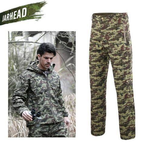 Men Shark Skin Soft Shell Coat Lurker TAD V4 Tactical Military Jacket+Pants Suit