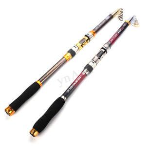 3-6m-Canne-a-Peche-Lancer-Telescopique-Fibre-de-Carbone-Fishing-Rod-Pole-Mer