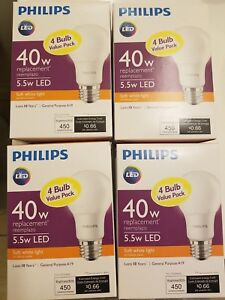Details About Qty 16 Philips 40w Led A19 Bulbs Daylight Or Soft White Free Ship