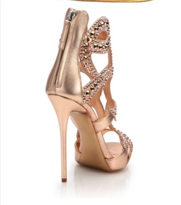 Womens Sexy Rhinestone European European European Style Peep Toe Summer Stilettos High Heel shoes ce7706