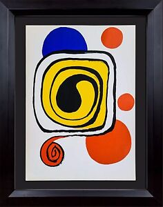 Alexander CALDER Original COLOR Lithograph LIMITED Ed. 1971  +Custom FRAME