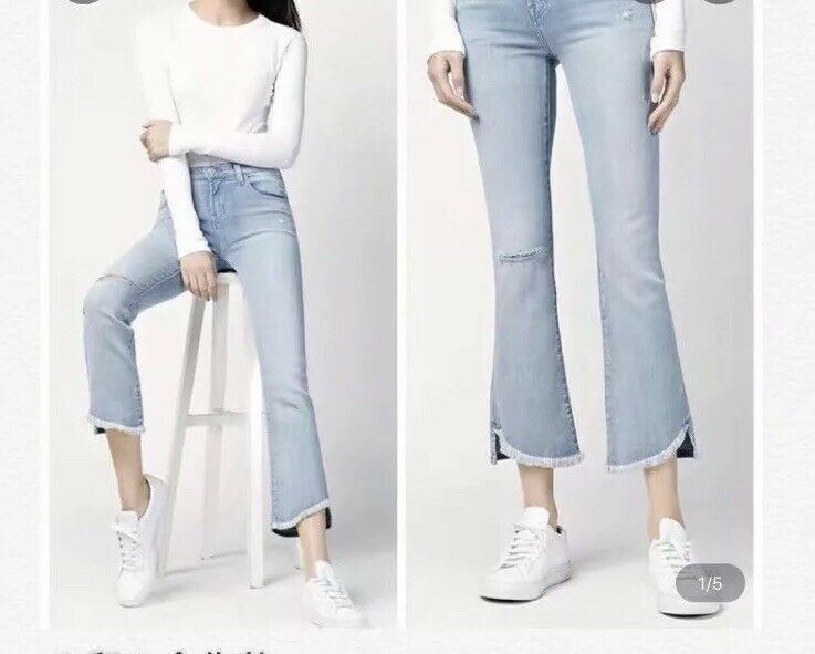 NWOT Jbrand x Theory Mid-rised Crop Jean Size 27
