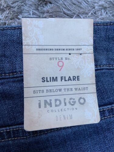 M/&s  Dk Indigo Collection Slim Flare Jeans Size 22 Medium Bnwt Free Sameday P/&p