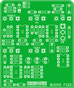 DIY FRIEDMAN BUXOM BOOST GUITAR EFFECT PEDAL PCB