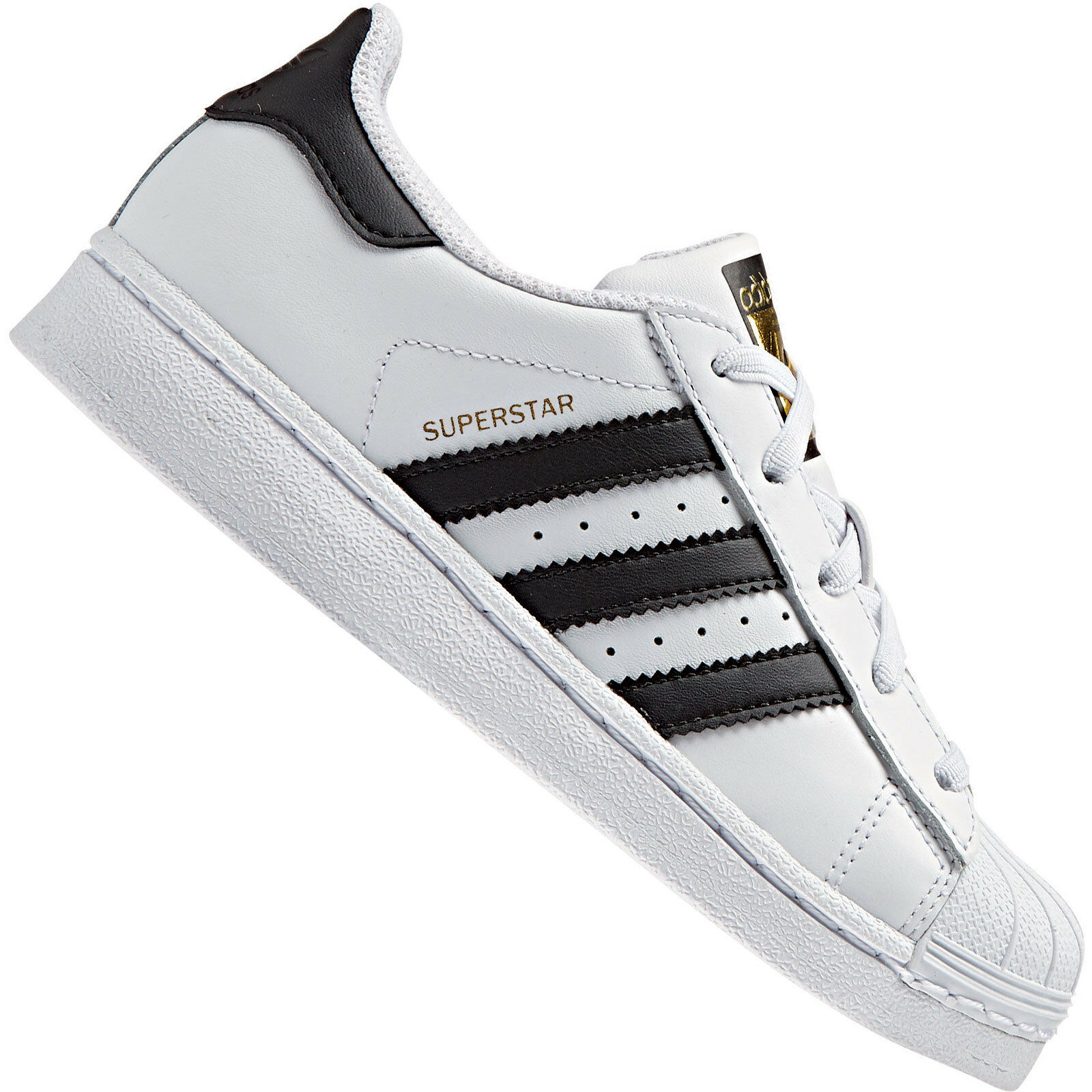 adidas Originals Superstar Junior White Leather Trainers 2.5 UK   35 ... 80705fd41