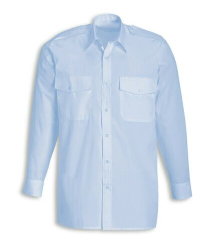 SAVE WITH MULTIBUY BNWT /& in Packet Men/'s Blue Pilot Shirt Long Sleeved XLarge