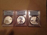 2006-W PCGS 20th Anniversary Silver Eagle Set