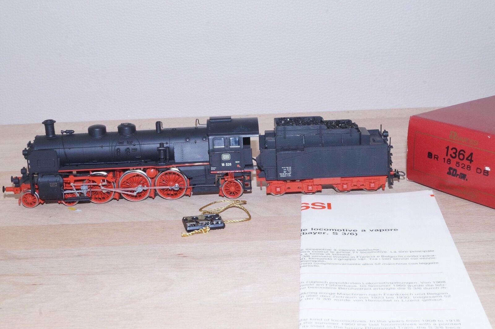 Rivarossi 1364 vapor-Lok schlepptenderlok de la DB br 18 528 nuevo en OVP real del carbón