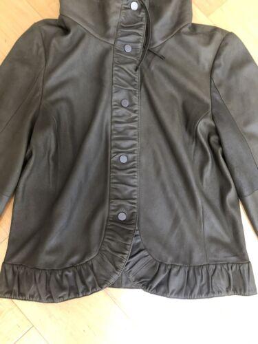 Carlisle Jacket Cropped Soft Suede  Size 6 Olive B